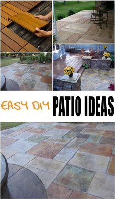Easy DIY Patio Ideas. Patio design ideas and tutorials.