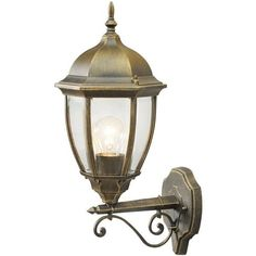 Applique exterieur London Street IP44 vers le haut  54,90€ Wall Lights, Fisherman Lights, Lamp, Outdoor Wall Sconce, Glass Classic, Bulkhead Light, Gold Glass, Outdoor Sconces, Glass