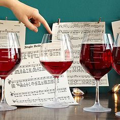 Major Scale Musical Wine Glasses - Set of 2 - Maybe for Dad!