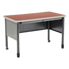 """Modular Teacher Desk with Two Pencil Drawers 48"""" W x 26"""" D by OFM, Inc.. $219.89. Depth: 26"""". Frame Material: 16-gauge steel. Width: 48"""". Height: 29"""". Desktop Material: High-pressure laminate. Give employees a sturdy and stylish place to sit with OFM's Modular Steel Desk with Two Pencil Drawers. The attractive, high-pressure laminate top is supported by a 16-gauge steel frame. Casters on the front two legs make it easy to move the desk from room to room. Comes with a con..."""