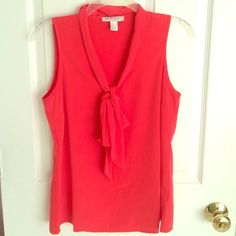 Forever 21 Red Bow Top Size small NWOT red shirt from Forever 21. Beautiful bright red color for summer with a tie in the front. Never worn. Forever 21 Tops