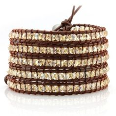 Champagne Crystals 5 Wrap Bracelet // Victoria Emerson (On Sale!!)