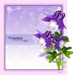 COLUMBINE FLOWER FRAME VECTOR