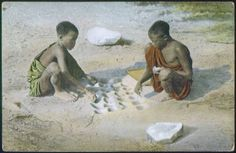 Children playing a game, East Africa, ca. 1900-1914 :: International Mission Photography Archive, ca.1860-ca.1960