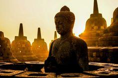 Zonsopkomst bij Borobudur!