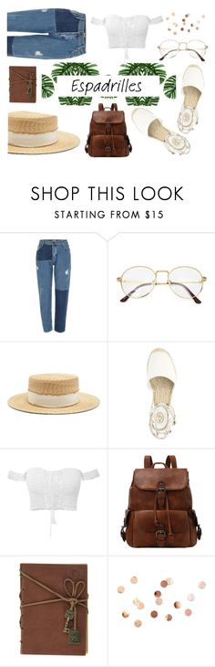 """""""How to Wear: Espadrilles"""" by kate0810 ❤ liked on Polyvore featuring River Island, Filù Hats and Umbra"""