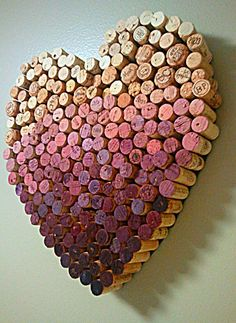 Already started a collection of corks from the wine my man and I drank now I must utilize them and turn them into a cork heart!