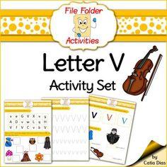 File Folder - V - Activity Set from Catia Dias on TeachersNotebook.com -  (6 pages)  - File Folder - V - Activity Set