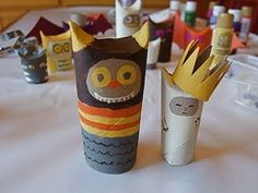 made from toilet paper tubes Fun Crafts For Kids, Toddler Crafts, Art For Kids, Arts And Crafts, Summer Crafts, Toilet Paper Roll Art, Rolled Paper Art, Manualidades Halloween, Halloween Crafts