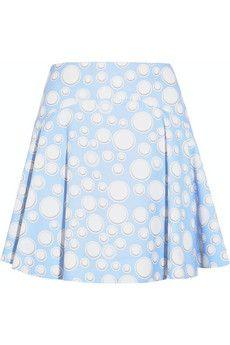 KENZO Printed crepe mini skirt   NET-A-PORTER