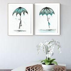 set of 2 artworks 30 x 40 cm Rain Street, White Art, Black And White, Ink Painting, Pattern Art, Monochrome, Modern Art, Abstract Art, Drawings