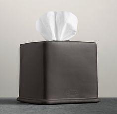 Flatiron Union Stoneware - Tissue Box - Charcoal (available in white)