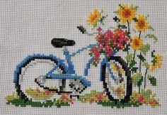 Χειροτεχνήματα: Ποδήλατα για κέντημα / Cross stitch bicycles
