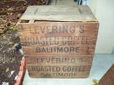 Vintage Large Baltimore Leverings Roasted Coffee Advertising Wooden Crate Coffee Advertising, Coffee Roasting, Vintage Wood, Baltimore, Crates, Decorative Boxes, Ebay, Antique Wood, Decorative Storage Boxes