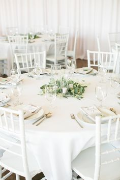 Nothing quite like simple ivory and green wedding centerpieces! | Charlotte wedding, Charlotte wedding vendors, NC wedding, NC wedding vendors, neutral inspired wedding, natural wedding, romantic wedding