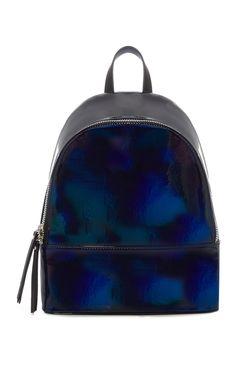 Marineblauer, holografischer Rucksack