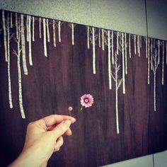 그해 겨울 자작나무 잎새를 떨군 겨울나무는 처연하나 나를.의연해지게 한다. #프랑스자수 #embroidery #needlework #handcraft #birch