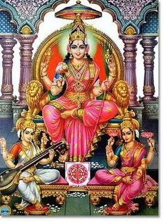 Goddess Shakti means Divine Power / Energy. There are many female deities in the Hinduism. Most popular Hindu Goddesses names are Parvati, Laxmi & Saraswati. Saraswati Goddess, Shiva Shakti, Indian Goddess, Goddess Art, Ganesha, Sri Ganesh, Feng Shui, Tanjore Painting, India Art