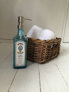 A personal favourite from my Etsy shop https://www.etsy.com/uk/listing/460218178/bombay-sapphire-gin-soap-dispenser