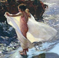 "hansolospants: "" Joaquín Sorolla y Bastida, Bathing Time (detail), 1904 [x] """