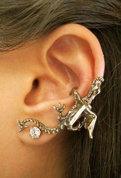 Bronze Dragon Climber Ear Cuff by martymagic on Etsy, $34.00