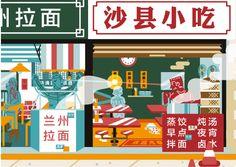 xMx Luo - Beijing Urban Village, Beijing, Book Design, Illustrators, Projects, Log Projects, Blue Prints, Illustrator, Illustrations