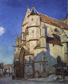 SISLEY, Alfred The Church at Moret, Evening 1894 Oil on canvas, 101 x 82 cm Musée du Petit Palais, Paris