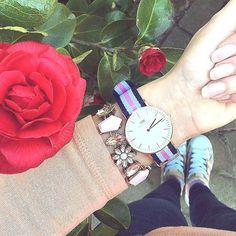 Hues of Pink Statement Bracelet #fashion #style #watch #pink #statementbracelet - 16,90  @happinessboutique.com