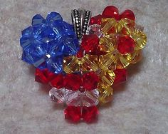 Support Our Troops USA Flag Swarovski by CrystalHeartFactory, $25.00