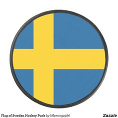 Shop Flag of Sweden Hockey Puck created by Personalize it with photos & text or purchase as is! Hockey Gear, Hockey Puck, A Team, Flags, Sweden, Country, Rural Area, National Flag, Country Music