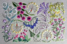 From Switzerland, these are beautiful little kits printed on linen. English instructions for traditional simple embroidery stitches are included.    You may choose your own threads or use what is suggested in the kits. The DMC threads are not included but the specialty silks, cottons and ribbons from the House of Embroideryare available in the drop down menu. So you choose to purchase the kit with or without the fibers.