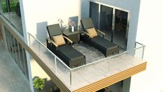 """These loungers remind me of the song """"Wake Up Slow"""" by Jack Johnson. This picture makes we want to roll out of bed and just enjoy the morning sunshine. Wicker Patio Furniture, Outdoor Furniture Sets, Outdoor Daybed, Outdoor Decor, Sectional Sofa, Sun Lounger, San Diego, Backyard, Jack Johnson"""