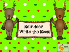 These write the room cards are ready to print and hang so your students can practice reading and writing the names of Santa's reindeer.  They include primary lines so students can also work on handwriting!   Write the Room can be used as a center or even during Work on Writing.
