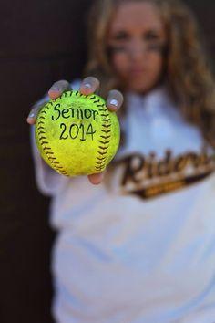 Daughter's softball Senior Picture