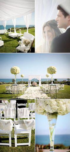 Fresh coastal wedding.