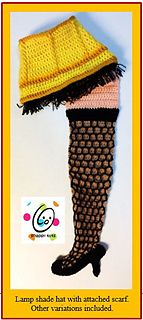 A Christmas story 'leg lamp' scarf and hat set pattern