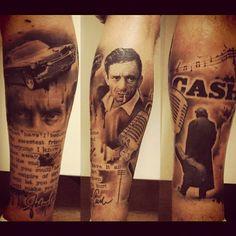 Johnny Cash tribute tattoo..   Johnny cash tattoo, Music ...