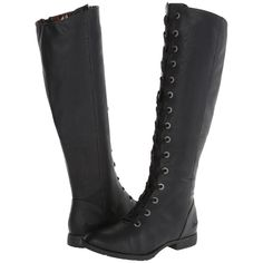 Blowfish Telluride Women's Lace-up Boots, Black ($36) ❤ liked on Polyvore