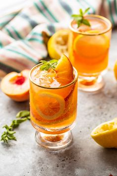 Meet your new summer drink: homemade Peach Tea Lemonade! Simple to make, packed with in-season peaches, and bound to keep you cool! Peach Tea Lemonade Recipe, Iced Tea Lemonade, Peach Ice Tea, Homemade Lemonade, Fruit Drinks, Smoothie Drinks, Smoothies, Healthy Drinks, Fancy Drinks