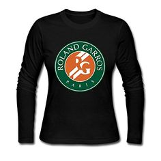 PNHK Women's French Open Tennis Logo Long Sleeve T-shirt XX-Large Black >>> Check out this great product.