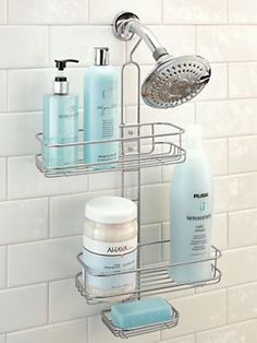 Adjule Shower Caddy Shelves Slide From Side To And Up Down Fit