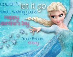Frozen Valentines Cards Impaled