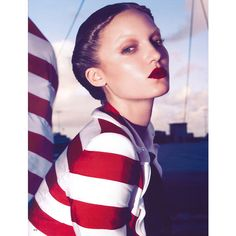 Sailor Girl ❤ liked on Polyvore featuring models, backgrounds, nautical, people e photos