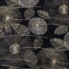 Ebony Pop Bloom Home Decor Fabric