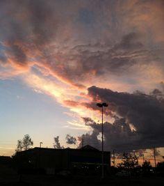 Lawrence, Kansas sunset - 2012.