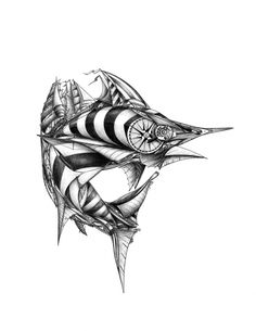 SAIL FISH: The most spectacular of seagoing sport fishes, shown here in full sail.