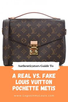 7b345498bf Side-by-side image guide of real versus fake Louis Vuitton pochette metis  bags