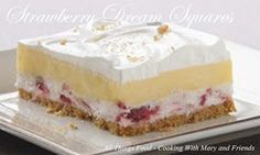 Cooking With Mary and Friends: Strawberry Dream Squares