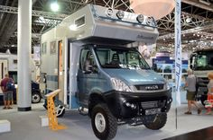 Another beefy, imposing Bimobil camper, the EX 345 is built on an Iveco Daily 4x4