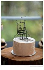 Daryls Rock And Wire Works Ski Lift Cake Topper From Darylsrockandwireworks